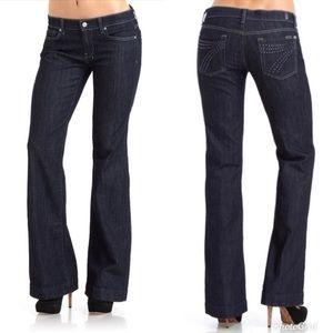 7FAM Dojo Jeans with Crystal Pockets